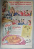 Kellogg's Cereal Ad: Production Order Wartime Ad! from 1943 Size: 11 x 15 inches