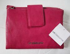 Liz Claiborne Double Top Zip Crossbody Handbag Purse Wallet  Mullberry Color NEW