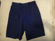 Reduced! Free Ship! Cherokee School Uniform Navy Short Boys Sz 10 Adjust Waist