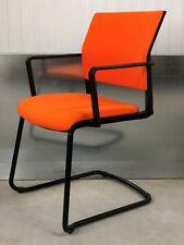 NEW EX-SHOWROOM:GERMAN DESIGN/ ORANGE/BLACK/FULLY UPHOLSTERED OFFICE/HOME CHAIR