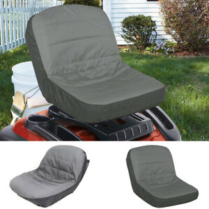 Universal Riding Lawn Mower Tractor Seat Cover Padded Comfort Pad Storage Bag