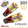 Vw Super Bright 14k Red Series 501 Led Smd Side Bulbs Error Free Strong Canbus