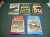 ACTION STATIONS X5 MILITARY AIRFIELDS BOOKS AND DJKTS  VGC LOW POST AIRCRAFT