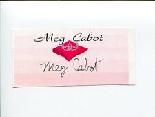 Meg Cabot The Princess Diaries Author Signed Autograph Bookplate