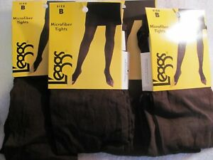 4 pair Leggs Microfiber Tights Brown Size B   #032277