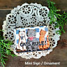 * CATS RULE * DecoWords MINI SIGN / Everyday Ornament Kitty Lover USA New in Pkg