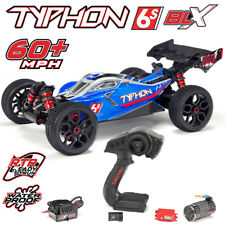 ARRMA AR106028 1/8 TYPHON 6S BLX Brushless 4WD RTR Blue/Silver Speed Buggy