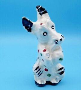 RARE Polka Dot Variation STANGL Scottish Terrier/Scotty Dog #3178I Black/White