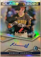 2020 BOWMAN DRAFT * ROBERT HASSELL AUTO /250 * CLASS OF 2020 * PADRES!
