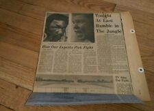 Vintage Clippings MUHAMMAD ALI  George Foreman lot RUMBLE IN THE JUNGLE boxing