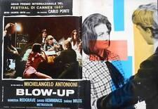 BLOW UP Italian fotobusta movie poster 4 MICHELANGELO ANTONIONI VANESSA REDGRAVE