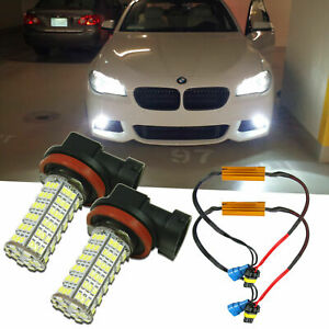 For BMW 328i xDrive 2009-2016 White No Error 120-SMD LED Fog Lights Front