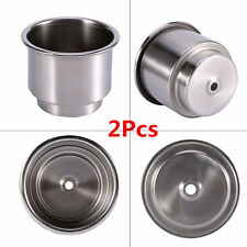2xUniversal Stainless Steel Cup Drink Bottle Holder Base For Car Truck Marine RV