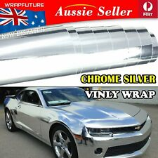 Bubble Free Vinyl Film Wraps Glossy Chrome Steel Silver Auto Stickers 1.51Mx0.3M