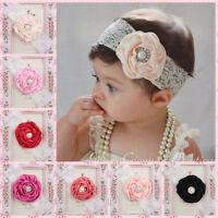 Kids Baby Girl Toddler Cute Lace Pearl Flower Headband Hair Band Headwear NEW