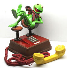 1983 Henson Associates Kermit The Frog Push ATC Button Phone Telephone+Orig Box