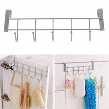 Over Door Home Bathroom Kitchen Coat Towel Hanger Rack Holder Shelf 5 Hooks#^