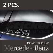 2 pcs. Powered by Mercedes-Benz Window Decal sticker emblem logo Silver