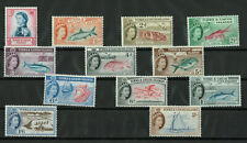 Turks And Caicos Islands - 1957 Queen Elizabeth II  - Lot of 12 Stamps