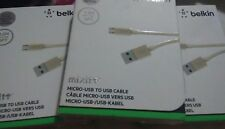 Belkin MIXIT Metallic Micro-USB to USB Cable 'Gold' W Free Shipping!