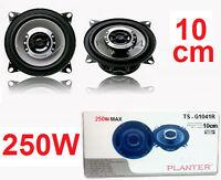 Casse altoparlanti diffusori 250 Watt.Per auto,HD sound,impianto stereo 10 cm.