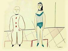 Pablo Picasso - Dessins de Picasso Verve 29/30 - Clown and Acrobat - Lithograph