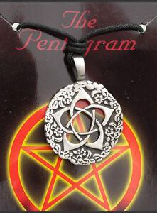Anhänger Mit Riemen Tribal Ethno Pentagramm aus Zinn Schutz B8 7968