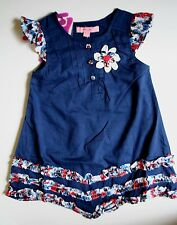 NEW Beetlejuice LONDON sz 3 3T A Line Dress Red White Blue Navy 4th of july