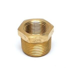 Reducer Bushing 1 inch Male to 3/4 Female Npt Brass Pipe Fitting Water Fuel Gas