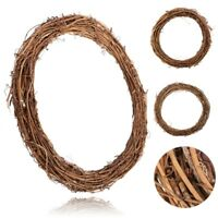 Christmas Natural Dried Rattan Wreath Xmas Garland Home Door Wall Decor