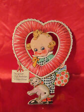 Antique Valentines Day Card Cupid Doll Germany