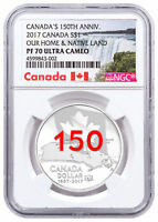 2017 Canada 150th Home & Native Land 3/4 oz Silver Enameled NGC PF70 UC SKU49729