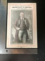 Roosevelt In Rhyme Magazine Booklet 1919 Commemorative Souvenir Theodore