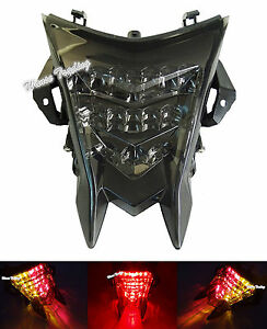 E-Marked Led Integrated Tail Turn Signals Light Smoke For BMW HP4 S1000R S1000RR
