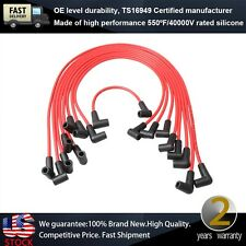 7mm RED Spark Plug Wires Kits fits Chevrolet GMC V8 Ignition Wires Auto Parts
