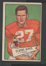 1952 Bowman Small Football Card #41 Claude Hipps-Pittsburg Steelers