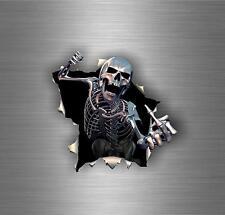 Autocollant sticker voiture tuning moto tete de mort skull biker motard jdm bomb