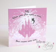 DISNEY FAIRYTALE Personalised Birthday Card - Granddaughter Daughter 3 4 5 6 7 8