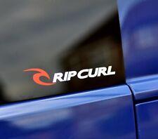 SET OF 3 RIPCURL BEACH SURF VAN DECAL STICKER WHITE / RED 120mm Spread