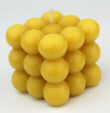 Handmade 100% Natural Beeswax Cool Ball Cube Square Candle