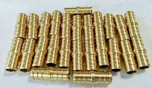 """New Efield 24 Count Lot 1/2"""" PEX Coupling Brass Half Inch Crimp Coupler Fitting"""