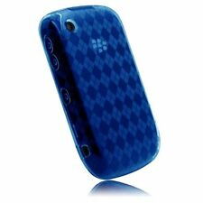 Flexible TPU Gel Case for Blackberry Curve 8520 - Blue Argyle