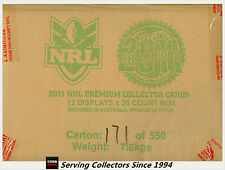 FACTORY CASE! Select 2011 NRL CHAMPIONS FACTORY CASE (12 BOXES + CASE CARD)