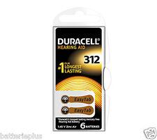 6 Pièces Duracell Piles Pour Appareil Auditif 312 à 1,4V Zinc Air
