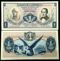 Colombia 1 Pesos Oro 1974 Banknote World Paper Money UNC Currency Bill Note