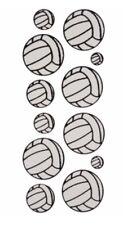 """Volleyball Glitter Scrapbook Stickers 4"""" x 12"""" sheet"""