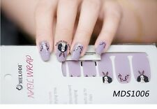 16x Bunny Girl Kawaii Nail Wrap Patch Glossy Self-adhesive Decal Sticker MDS1006