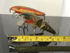 Vintage Fishing Lures Pflueger wood rare Palomine Glass eye models.great patina