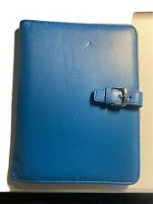 Franklin Covey Leather Classic 75 X 95 X 12 Inches Notebook Holder Teal
