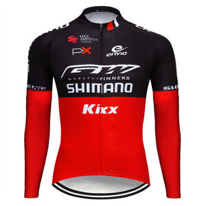 Men Cycling Jersey Jacket Shimano Bike Long Sleeve MTB Tight Shirt Team Clothing